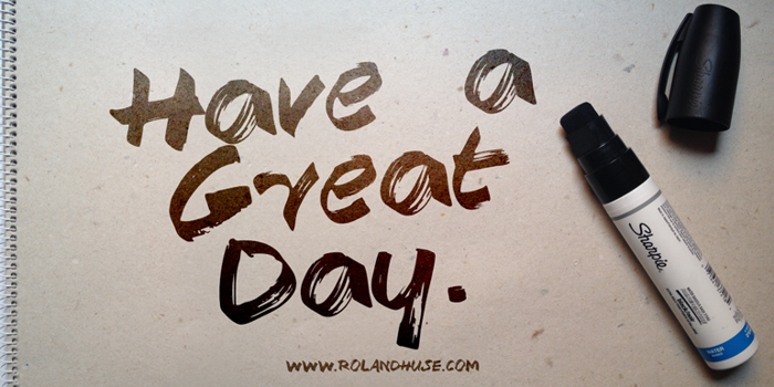 Have a Great Day Demo Font poster