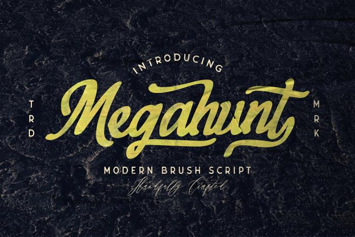 Megahunt Font poster