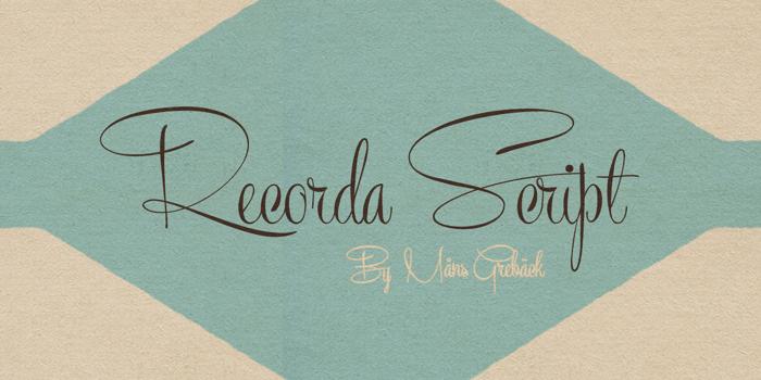 Recorda Script Font poster