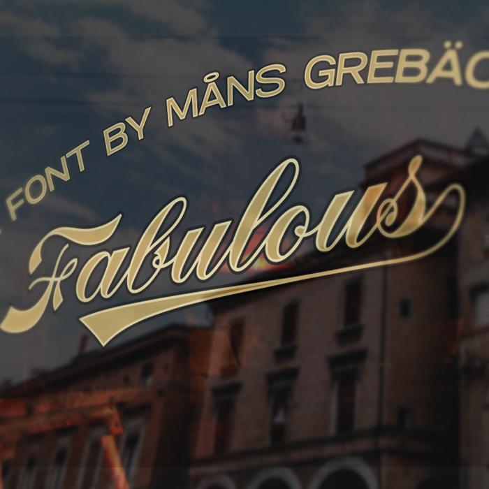 Fabulous Font poster