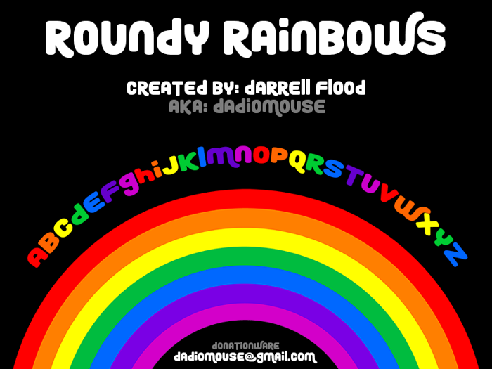 Roundy Rainbows Font poster