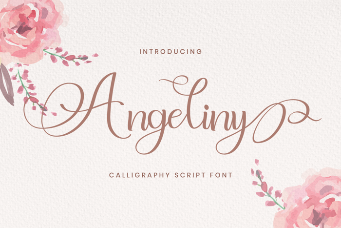 Angeliny Font poster