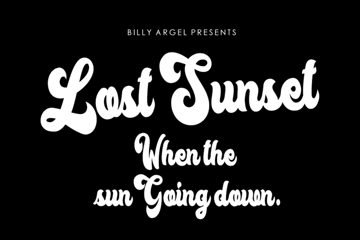 Lost Sunset Font poster