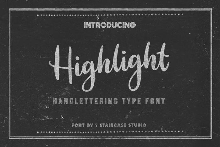 Highlight Font poster