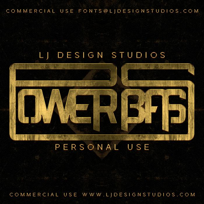 Power Bass Font poster