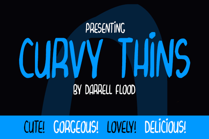 Curvy Thins Font poster