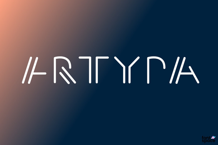 Artypa Font poster