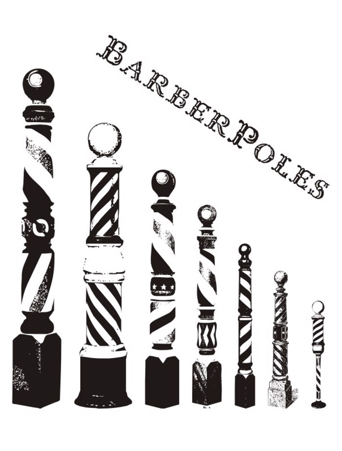 BarberPoles Font poster