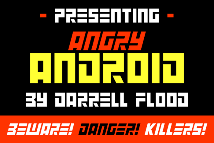 Angry Android Font