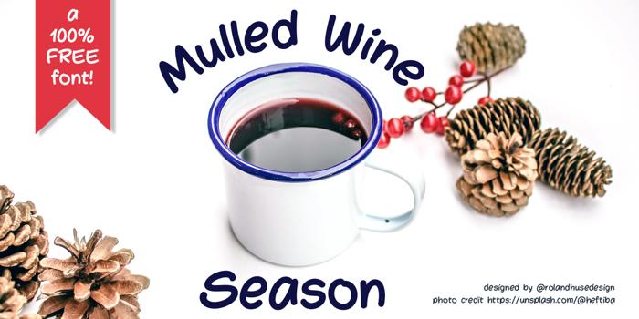 Mulled Wine Season Font poster