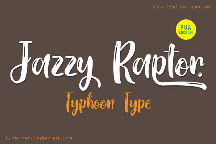 Jazzy Raptor Font poster