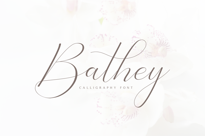 Bathey Font poster