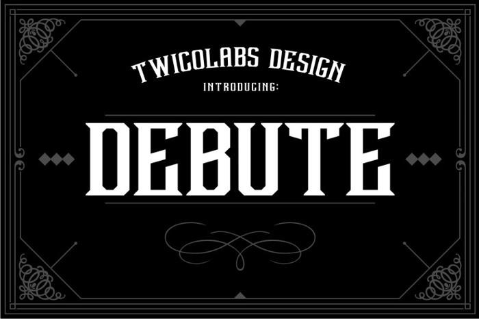 Debute Font poster