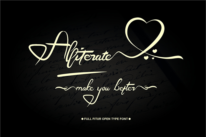 Aliterate Font poster