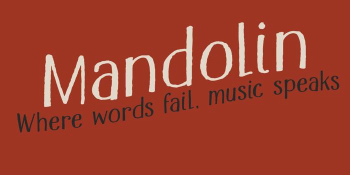DK Mandolin Font poster
