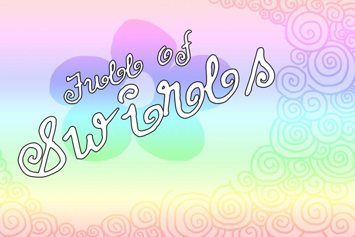 FullofSwirls Font poster