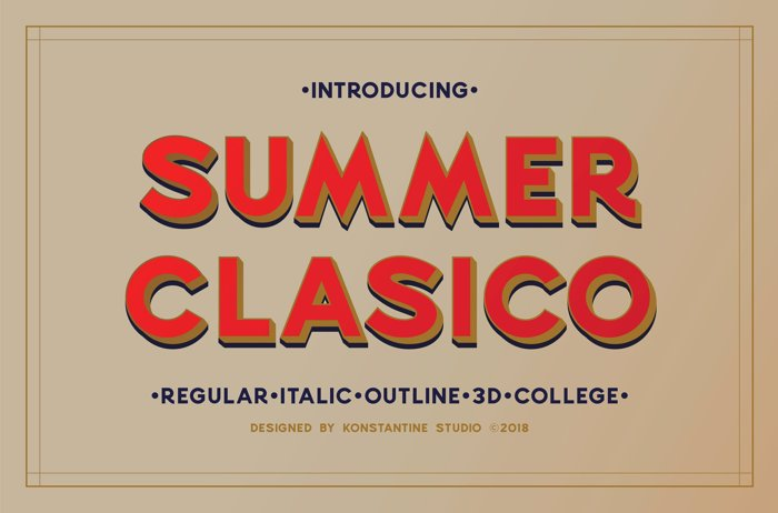 Summer Clasico DEMO Font poster