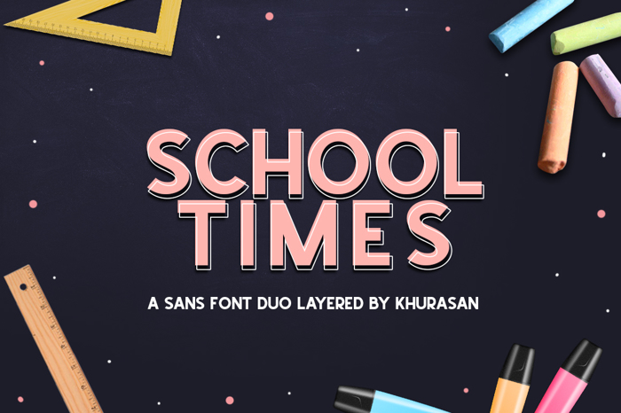 School Times Font poster