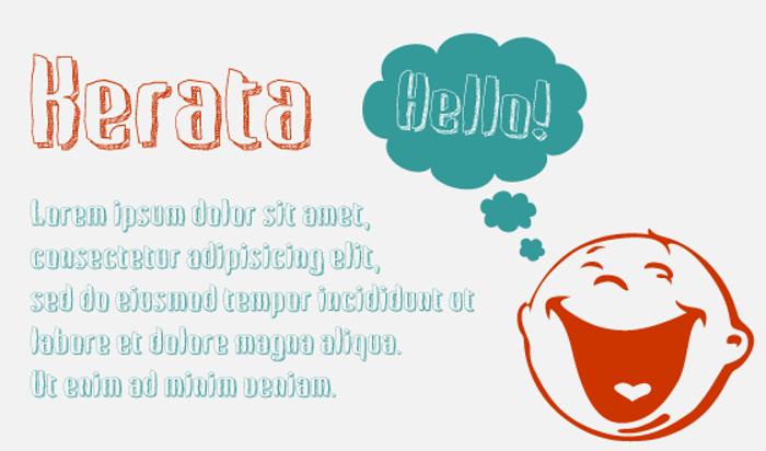 Kerata Font poster