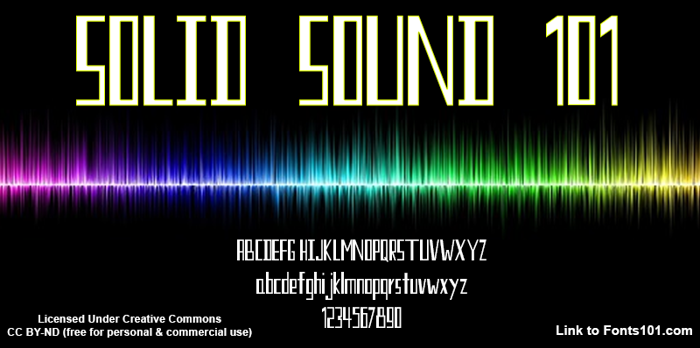 Solid Sound 101 Font poster