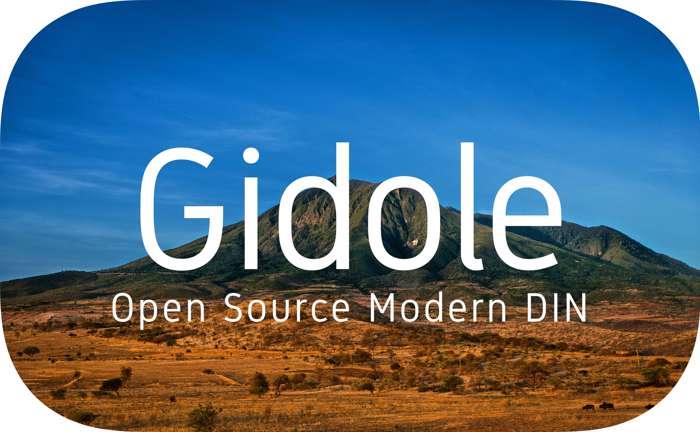 Gidole Font poster