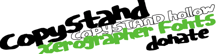 CopyStand Font poster