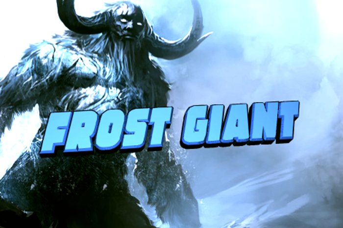 Frost Giant Font poster