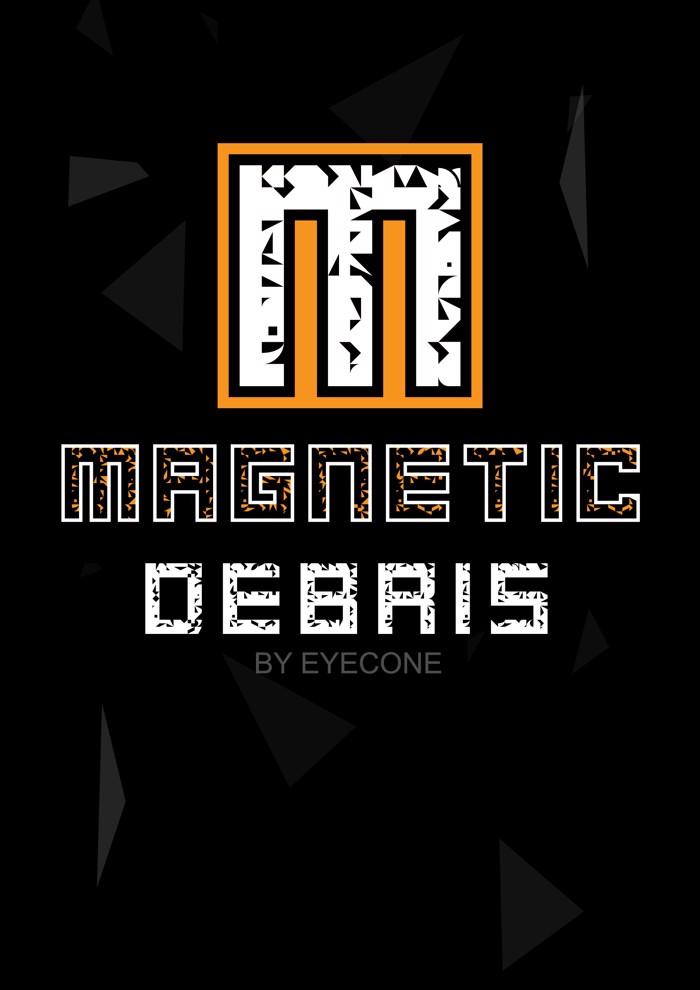 Magnetic Debris Font poster