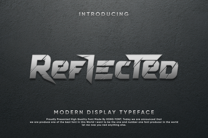 Reflected Font poster