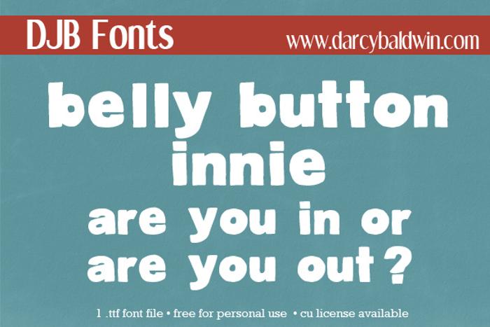 DJB BellyButton-Innie Font poster
