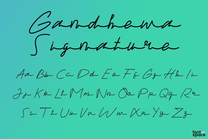 Gandhewa Signature Font poster