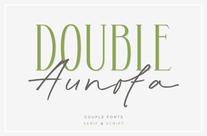 Aunofa Serif Font poster