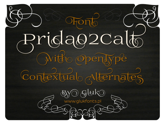 Prida02Calt Font poster
