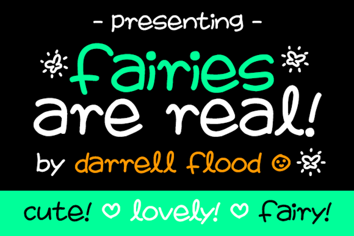 Fairies Are Real Font poster