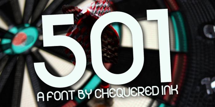 501 Font poster