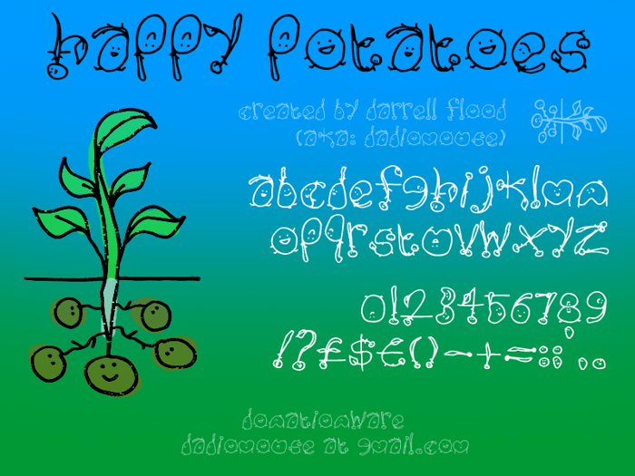 Happy Potatoes Font poster