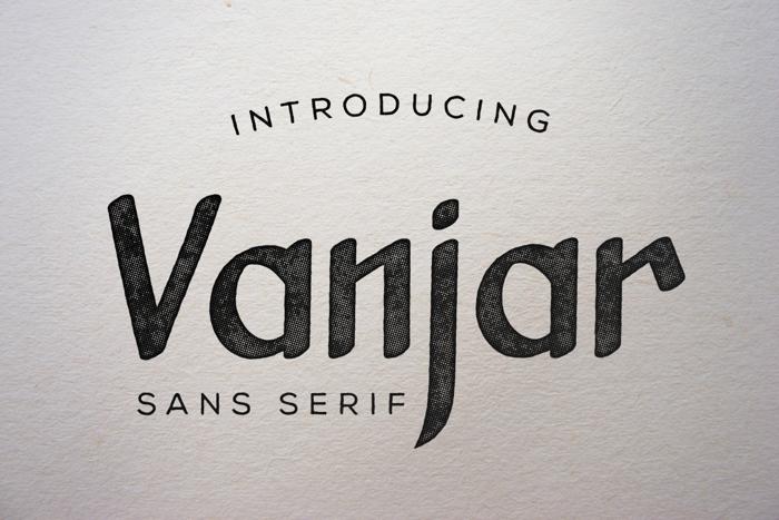 Vanjar Font poster