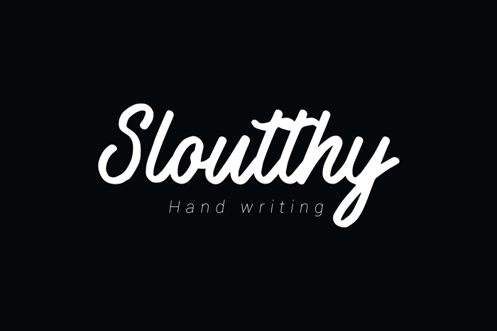 Sloutthy Font poster