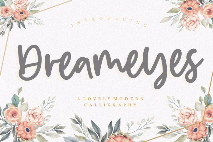 Dreameyes Font poster