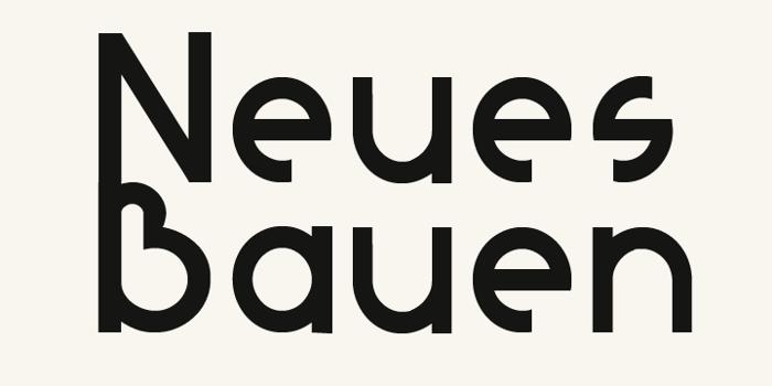 Neues Bauen Font poster