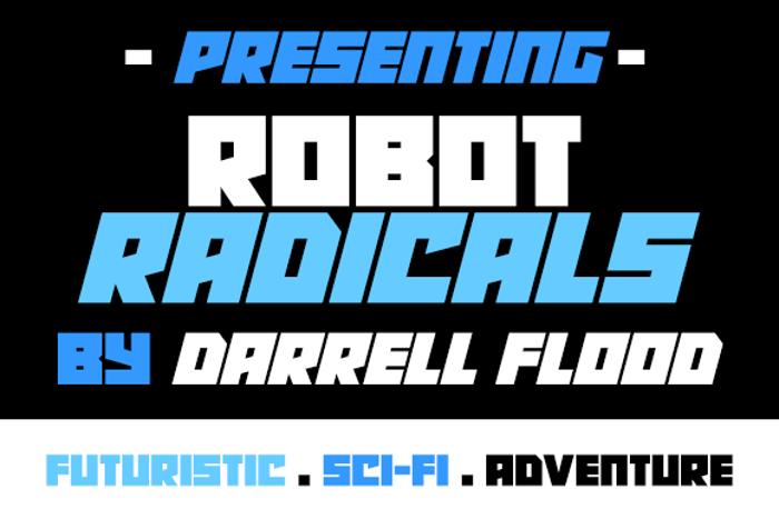 Robot Radicals Font poster