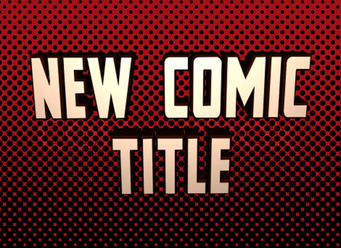 New Comic Title poster