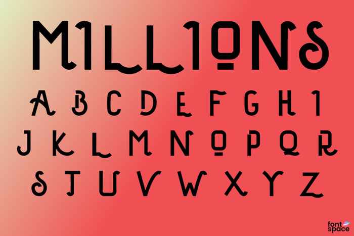 Millions Font poster