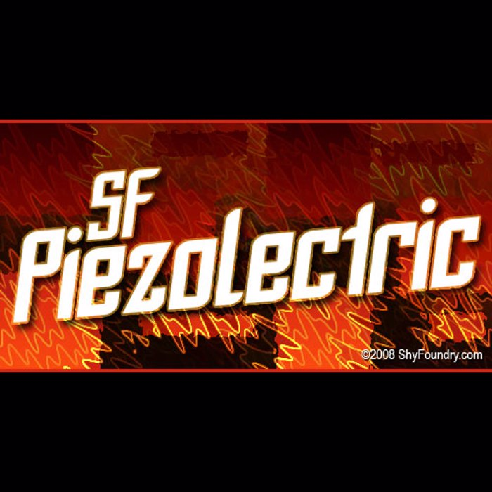 SF Piezolectric Font poster