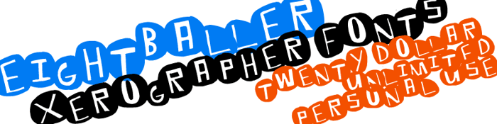 EightBaller Font poster