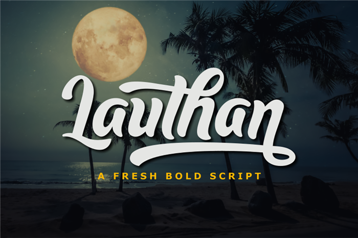 Lauthan Font poster
