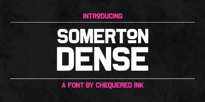 Somerton Dense Font poster