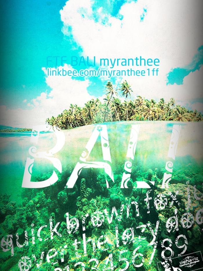 FTF Bali Myranthee Font poster