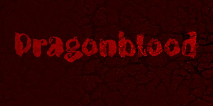 DK Dragonblood Font poster