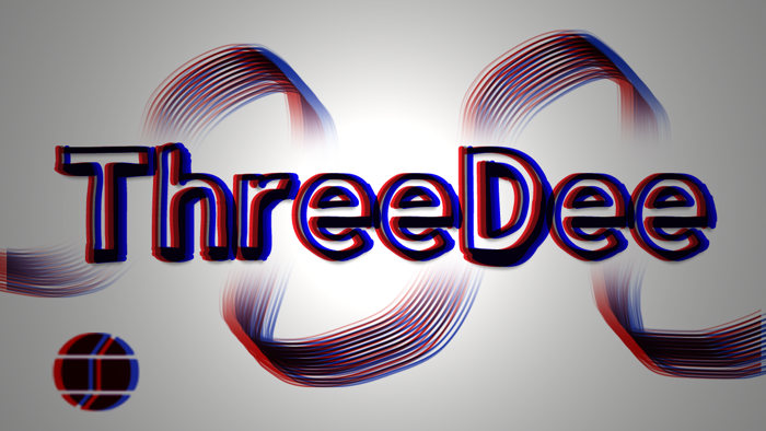 ThreeDee Font poster